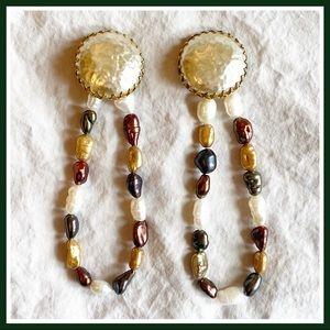 MIRIAM HASKELL Vintage Updated Pearl Earrings